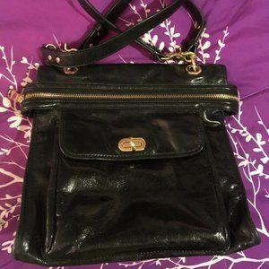 Badgley Mischka Crossbody Bag Black Leather Handba
